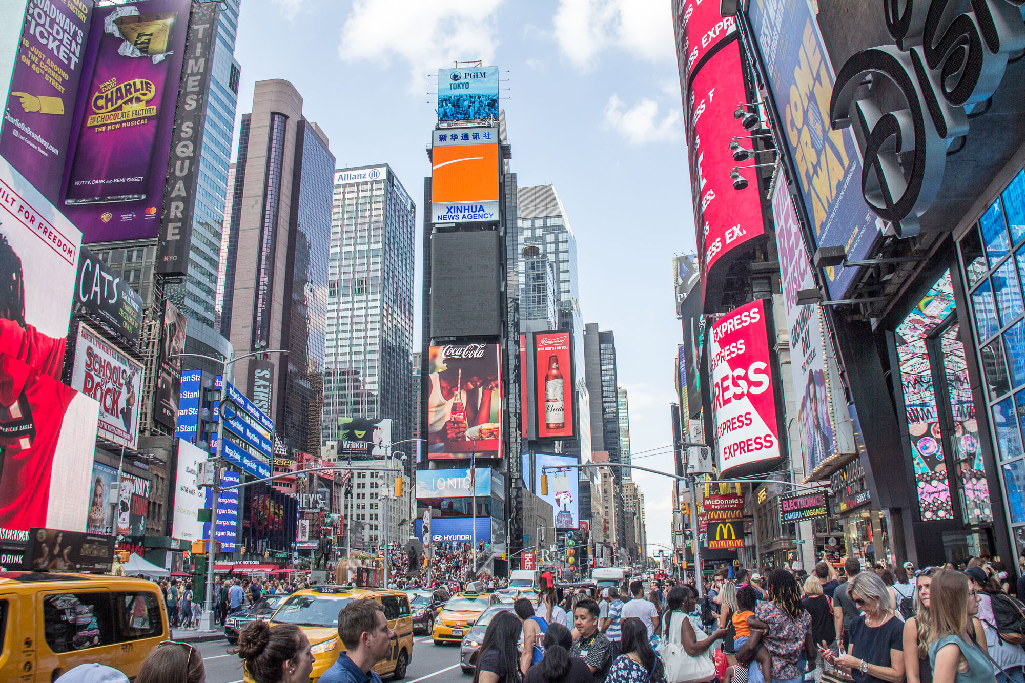 Towering Times Square Travel app